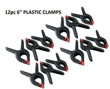 "12 x 6"" Strong Plastic Spring Clamps Market Stall Clips Nylon Large Tarpaulin"