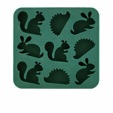 Kikkerland Silicone Woodlands Ice Tray, Jelly Mold, Soap Mould