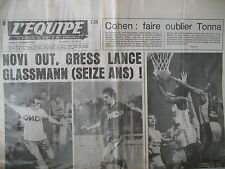 FOOTBALL COURONNE MI-SAISON BASKET CAEN LE MANS SKI SERRAT JOURNAL L'EQUIPE 1977