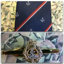 Royal Navy (Crest) Tie & Tie Bar Set RN Chief Petty Officer CPO