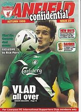 LIVERPOOL ANFIELD CONFIDENTIAL AUTUMN 1999 ISSUE 27
