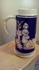 """German Beer Stein Marked M R Marzi & Remy made in Germany 7 1/2"""" Tall tankard"""