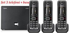 Siemens Gigaset C530IP + C530H, 3 Telefoni VoIP, DECT, PSTN, IP, + 10 € Traffico