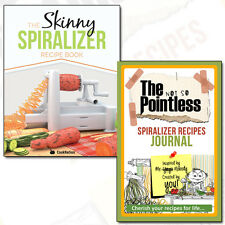 Skinny Spiralizer Recipe Book Collection Low Calorie 2 Books Set Journal NEW