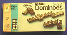 Vintage HALSAM # 4132  Double Nine Wooden DRAGON DOMINOES 55 Pieces