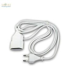 Euro-extension white 2m, Extension cable with Euro plug & Euro coupling