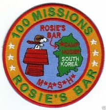 100 MISSIONS ROSIE'S BAR CAMP MOSIER S.KOREA M*A*S*H*  GONE BUT NOT FORGOTTEN  Y