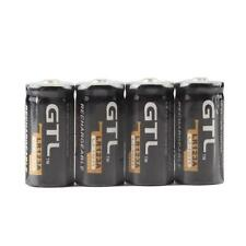 Useful 4 Piles GTL 16340 battery Accus Rechargeable CR123A LR123A 3V 1200mAh