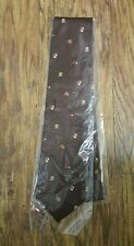 Factory NWT Beretta Hunting Dogs Neck Tie in Chocolate Brown 100% Silk - Italy