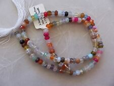 """14"""" Strand Mixed Gemstone Small Faceted Rondelle Beads 4mm ~ Opal ~ Chalcedony"""