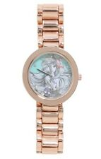 Disney The Little Mermaid Ariel Sketch Rose Gold Tone Metal Strap Watch NICT!