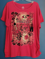 New Disney World Parks PRINCESS Once Upon a Time Tee Top Misses  XXL - Pink