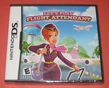 Let's Play Flight Attendant Nintendto DS FACTORY SEALED **FREE SHIPPING**