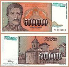 YUGOSLAVIA 5000000 DINARA UNC  # 6