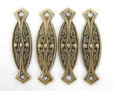 Antiqued Brass Deco Filigree Bar Connector Links Vintage Style 33mm