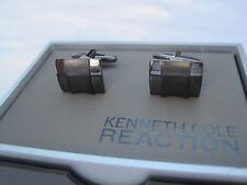 Kenneth Cole Cufflinks, Brushed and Polished Dark Grey Finish, $38 Retail