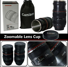 24-70mm 1:1 f/4L Zoomable Stainless Steel Termos Coffee Lens Cup Mug for Canon