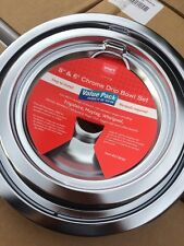 """Drip Pans Set Of 4 Universal Chrome Electric Range Stove Bowls Replacement 6""""/8"""""""