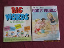 2 vintage BIG WORDS for little People 1973 & TELL ME ABOUT GOD'S WORLD 1976