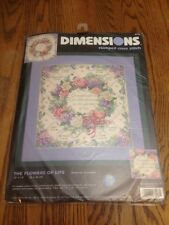 Dimensions Stamped Cross Stitch Kit 3196 The Flowers of Life New & Sealed