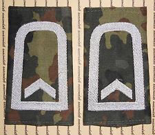 Schulterklappen Rangabzeichen Heer Feldwebel weiß Tarnfleck getragen ##1150