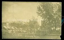 1910's RPPC Women in City Park and Downtown Area Donnelly MN Storefronts B854