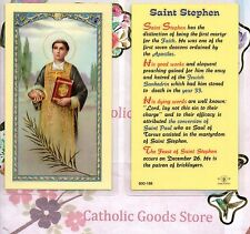 St. Saint Stephen - Biography -  Laminated Holy Card