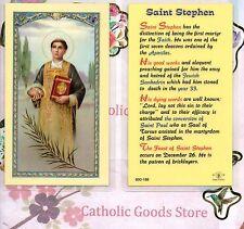 St. Saint Stephen - Biography -  Laminated Holy Card