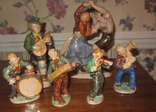 SET OF 6 BAVARIAN PORCELAIN FIGURINES OCTOBER FEAST FEST MUSICIANS DANCERS