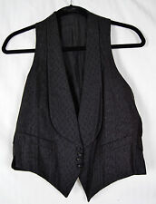 Antique Textured Silk Victorian Vest Unisex Shawl Collar Gamber Mobster