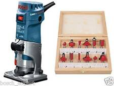BOSCH Palm Router  **GMR 1 Professional** with 12 Pcs 6mm Bit sets