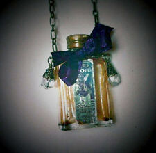Vintage Valentine Glass Perfume Bottle Necklace Steampunk Gift