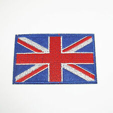 Union Jack UK British England Flag Embroider Subdued Woven Badge Patch 82x52mm