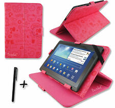 Cute Pink PU Leather Case Stand for ARCHOS 101b & 101c Neon 10.1''inch Tablet PC