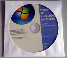 Windows XP Professional x64 Edition 64bit recovery repair install setup disc cd