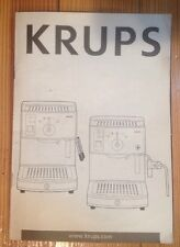 Krups Novo 3000 FNC2 & 3000 Premium FNC3 Espresso Maker Owners Manual Use & Care