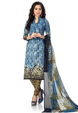 Elegant Crepe Designer Printed Unstitched Dress Material Suit D.No RE4644