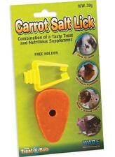 WARE CARROT SALT LICK & HANGER RABBIT GUINEA PIG HAMSTER CHINCHILLA FEED FOOD