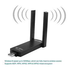 2.4GHz+300M USB WiFi 2.0 Range Extender,Wireless Repeater Router Signal Booster