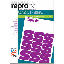 Spirit Tattoo Transfer Paper - Sold in 10pk Compatible with All Thermal Printers