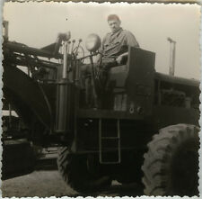 PHOTO ANCIENNE - VINTAGE SNAPSHOT - MILITAIRE CAMION TRACTEUR - MILITARY TRACTOR