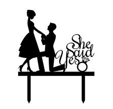 She Said Yes Proposal Bridal Shower Engagement Party Cake Topper Decoration Sign