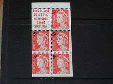 AUST 1966 5c ON 4c QE2 BOOKLET PAIN OF 6 9 X 4 INCH SLOGAN VERY FINE M/N/H