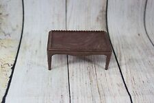 Vtg DollHouse Miniature Plasco Furniture Toy Item Brown Faux Marble Coffee Table