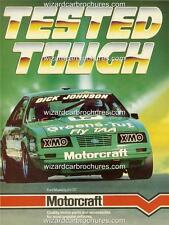 1986 DICK JOHNSON FORD MUSTANG GT 5.0 GREENS TUF A3 POSTER AD BROCHURE ADVERT