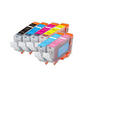 6 New Ink Pack w/ PC & PM CHIPPED for Canon CLI8 Pixma iP6600D iP6700D