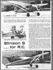72 inch     Stinson S    Oldtimer  RC AIrplane Printed Plans & Templates