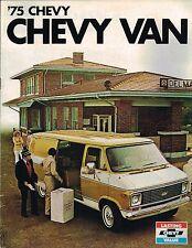 1975 Chevy VAN Brochure w/ Color Chart: G10, G20, G30, G-10,20,30,Hi-Cube