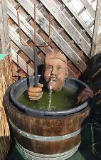 Neptun Kopf Wasserspeier mit Hände ohne Fass Kunst Sandstein Antik Look E 24