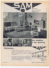 PUBLICITE ADVERTISING 104 1961 SAM des meubles sur mesures
